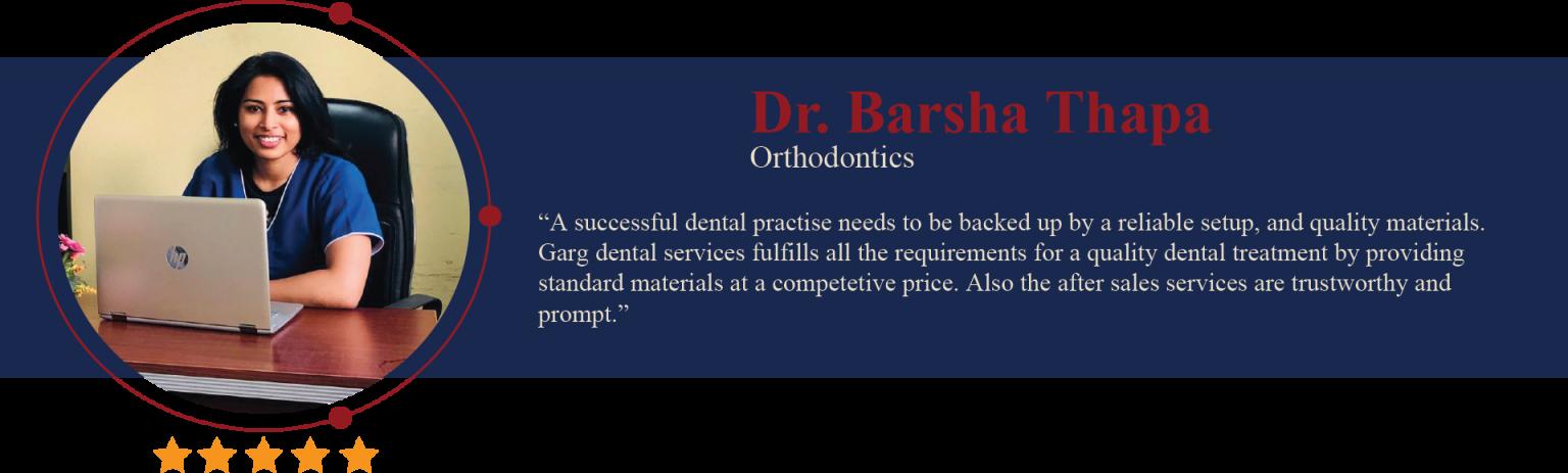 Dr. Barsha Thapa testimonial